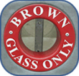 Brown Glass Only